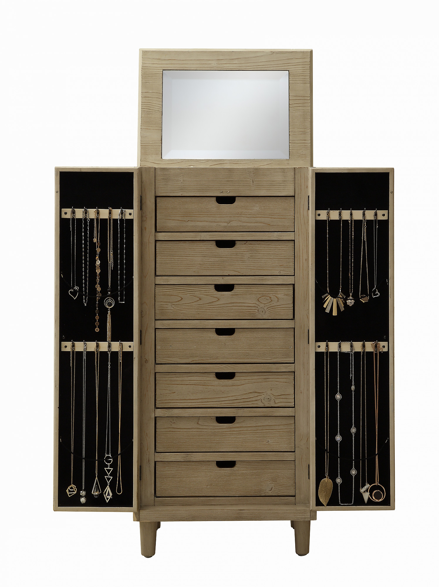 Exclusive 2 Door Large Jewelry Armoire Organizer Cabinet By Kathy