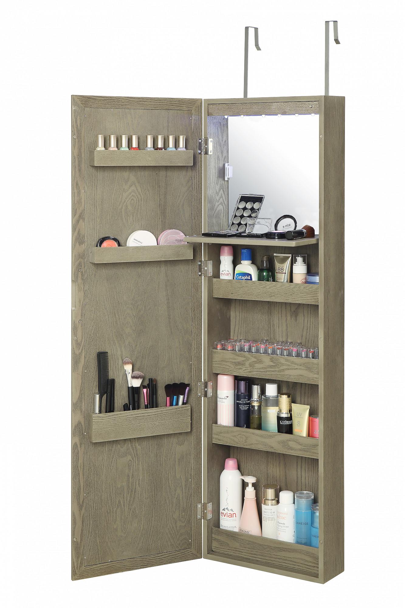 Over the door makeup armoire