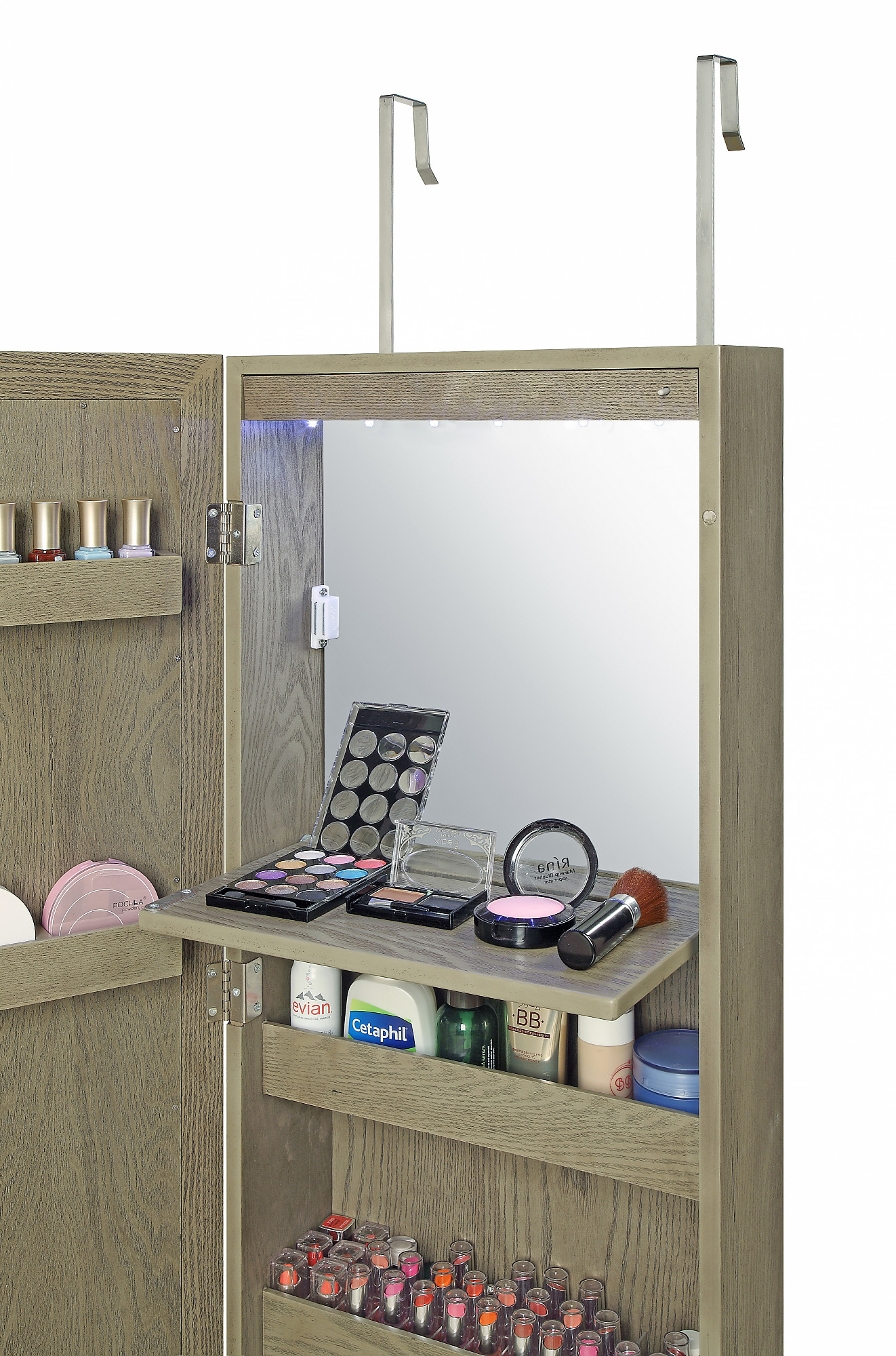 Brilliant Ideas Of Over The Door Beauty Armoire With Full Length