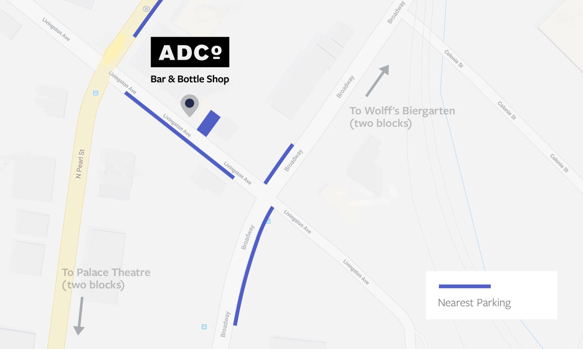 ADCo Bottle Shop Map