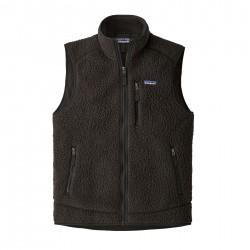 See M's Retro Pile Vest in Black