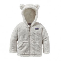 See Baby Furry Friends Hoody in Birch White
