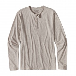 See M's L/S Daily Henley in Birch White