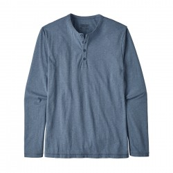 See M's L/S Daily Henley in Woolly Blue