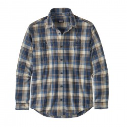 See M's L/S Pima Cotton Shirt in Buttes Small: Stone Blue