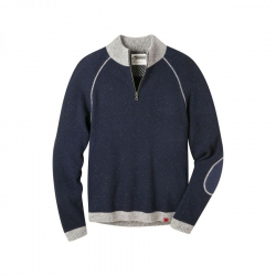 See Fleck Qtr Zip Sweater in Navy