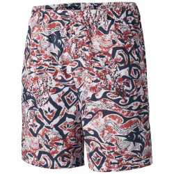 See Backcast II Printed Short in White Deep Sea