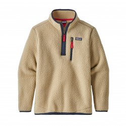 See Retro Pile Qtr Zip Boys in ELKH Khaki