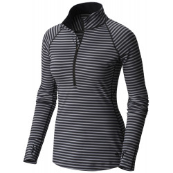 See Butterlicious Stripe Long Sleeve Crew in Black, Black