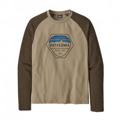 See M's Fitz Roy Hex LW Crew Sweatshirt in El Cap Khaki