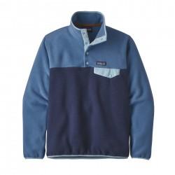 See W's LW Synch Snap-T P/O in New Navy w/Woolly Blue