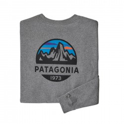 See M's L/S Fitz Roy Scope Responsibili-Tee in Gravel Heather