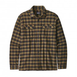 See M's L/S Fjord Flannel Shirt in Castroville: Ink Black