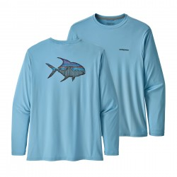 See Cap Cool Daily Fish Graphic Shirt Mn in Sketched Fitz Roy Permit: Break Up Blue