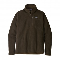 See M's Better Sweater 1/4 Zip in Logwood Brown