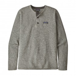 See M's Better Sweater Henley P/O in Stonewash