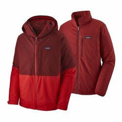 See M's 3-in-1 Snowshot Jkt in Oxide Red