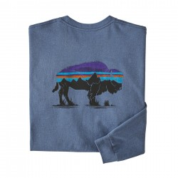 See M's L/S Fitz Roy Bison Responsibili-Tee in Woolly Blue