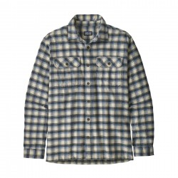 See M's L/S Fjord Flannel Shirt in Castroville: Oyster White