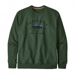 See M's Arched Fitz Roy Bear Uprisal Crew Sweatshirt in Alder Green