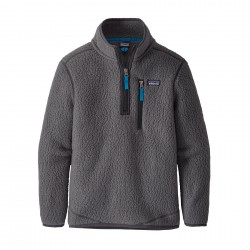 See Boys' Retro Pile 1/4 Zip in Forge Grey