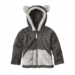See Baby Furry Friends Hoody in Forge Grey