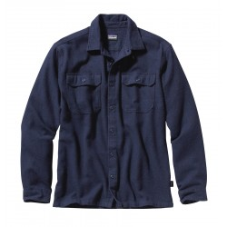 See M's L/S Fjord Flannel Shirt in Navy Blue
