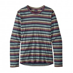 See W's L/S Mainstay Shirt in Critter Stripe: Navy Blue