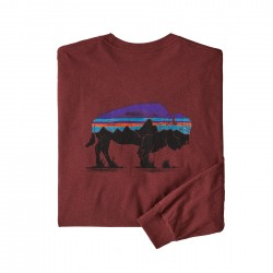 See M's L/S Fitz Roy Bison Responsibili-Tee in Oxide Red