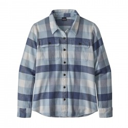 See W's L/S Fjord Flannel Shirt in Upriver: Woolly Blue