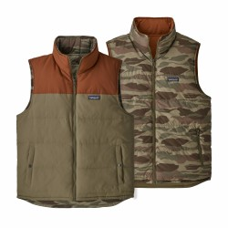 See M's Reversible Bivy Down Vest in Sage Khaki