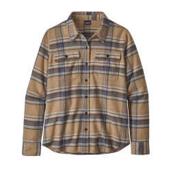 See W's L/S Fjord Flannel Shirt in Cabin Time: Bearfoot Tan