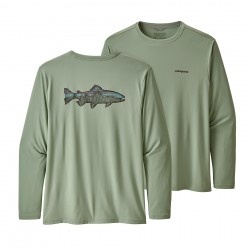 See Cap Cool Daily Fish Graphic Shirt Mn in Sketched Fitz Roy Trout: Celadon