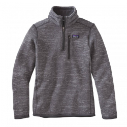 See Better Sweater 1/4 Zip Boys in Nickel