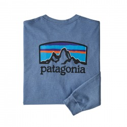 See M's L/S Fitz Roy Horizons Responsibili-Tee in Woolly Blue