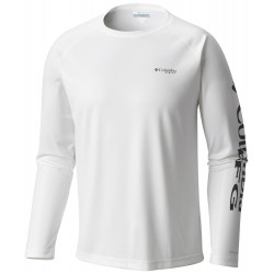 See Solar Shade Long Sleeve Ms in White, Nightsha