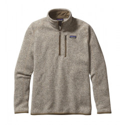 See Better Sweater 1/4 Zip M in Bleached Stone