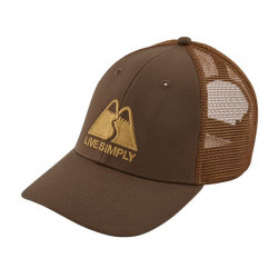 See Live Simply Winding LoPro Trucker Hat in TMBR Brown