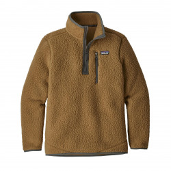 See Retro Pile Qtr Zip Boys in COI Brown