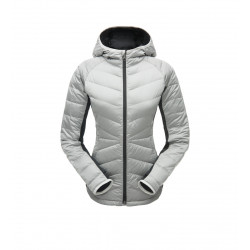 See Solitude Hoody Down Jacket Wm in White Black