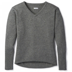 See Shadow Pine V-Neck Sweater W in Medium Gray