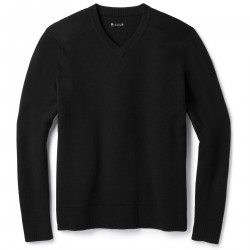 See Sparwood V-Neck Sweater M in Black