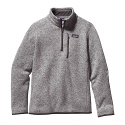 See Better Sweater 1/4 Zip Boys in Stonewash