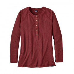 See Waffle Henley Ws in Drumfire Red