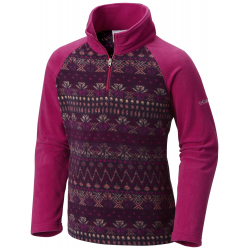 See Glacial II Fleece Print Half in Deep Blush Nord