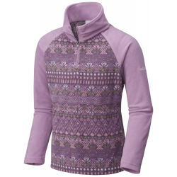 See Glacial II Fleece Print Half in Violet Haze Nor