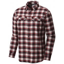 See Silver Ridge Flannel Long Sleeve Shirt M in Red Element