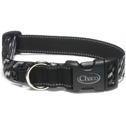 See Dog Collar in Static Black