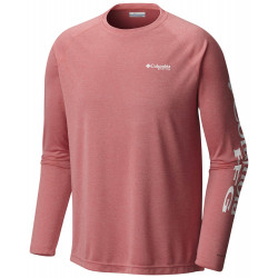 See Terminal Tackle Heather LS Ms in Sunset Red Heather
