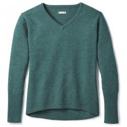 See Shadow Pine V-Neck Sweater W in Mediterranean G